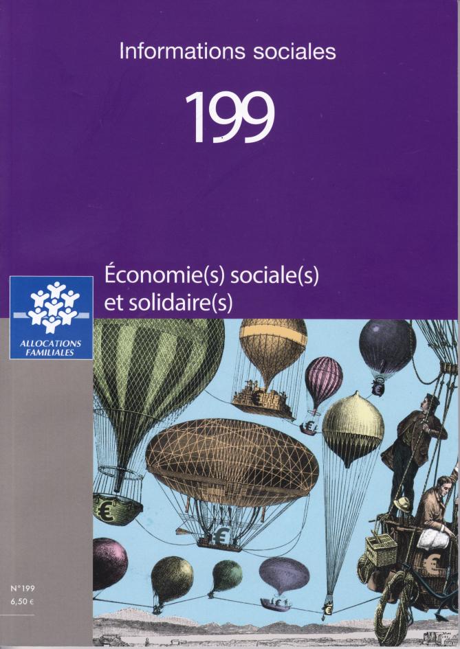 Couverture du numéro 199 de la revue Informations sociales consacrées à l'économie sociale et solidaire.